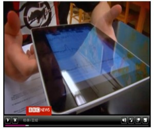 Screenshot from BBC Click episode 25 June 2011